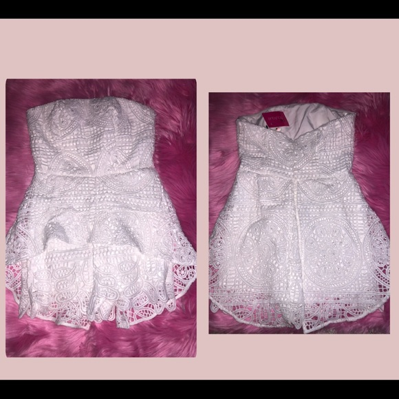 271a53c6043 Brand New White lace I do Romper